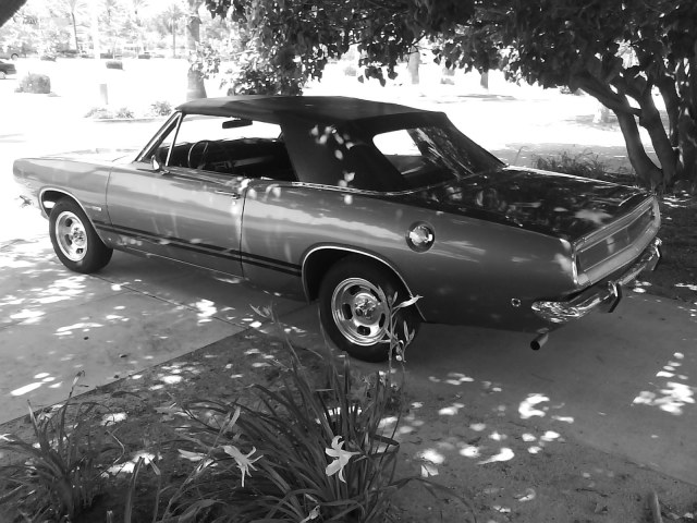 Photo of my sweet 1968 Plymouth Barracuda Convertible 318 V8